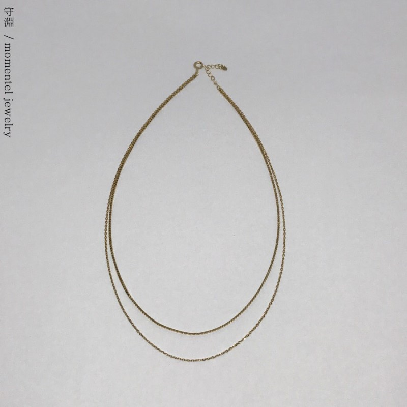 gold two chain necklace [silver 입고]